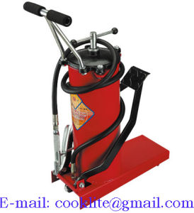 High Pressure Grease Pump Pedal Lubricator Foot Operated Grease Bucket - 10L pictures & photos