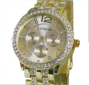 Fashion Ladies Chrono Japan Quartz Analog Wrist Watch (XM9001)