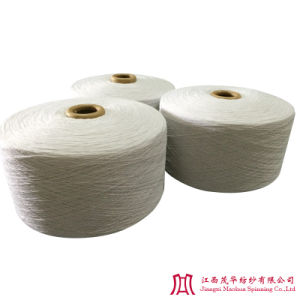 Recycled Bleached Polyester Cotton Yarn (7s)