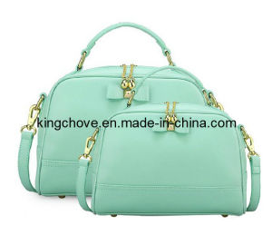 Latest Sky Blue with Gold Metal Fitting Fashion PU Tote Bag (KCH40)