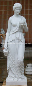 Marble Woman Statue with Ball pictures & photos
