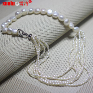 Fashion Cultured Freshwater Baroque Pearl Necklace for Women pictures & photos