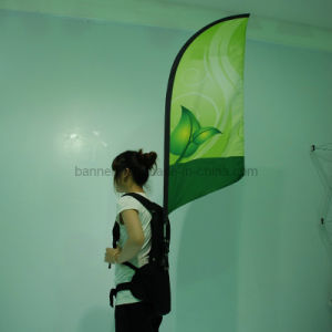 Outdoor Advertising Flying Feather Teardrop Flag of Fabric Printing Banner pictures & photos