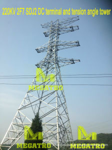 Megatro 220kv 2f7 Sdj2 DC Terminal and Tension Angle Tower pictures & photos