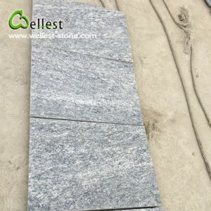 China Flamed Light Grey Granite Paving Tile pictures & photos