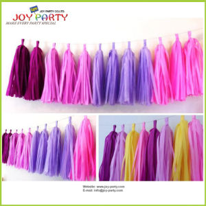 Tissue Paper Garland Tassel for Home Decoration