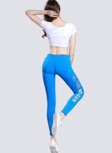 Dry Fit Sexy Women Yoga Pants, Black Yoga Leggings with Printing pictures & photos