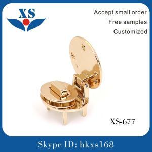 Hot Sell Fashion Gold Color Metal Turn Twist Lock