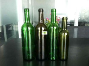 Green Black Yellow Wine Bottle