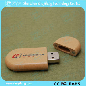 Ce RoHS Approved Custom Logo Wood USB Pen Drive (ZYF1357)