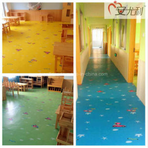 Children Colorful Waterproof Anti Slip Floor Uv Coating Pvc Vinyl Flooring