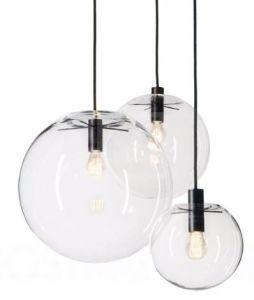 Nordic Pendant Lights Globe Chrome Lamp Gl Ball E27 Re Suspension Kitchen Light Fixture