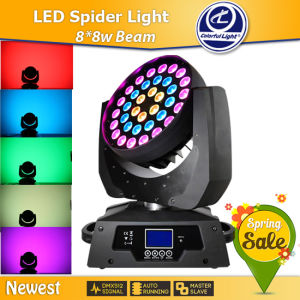 New for 2015 36*10W RGBW Zoom Wash LED Moving Head Light for Stage Decoration