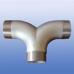 3-Way Stainless Steel Pipe Fittings 304/316ss pictures & photos