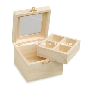 Small Wooden Craft Boxes / Mini Wooden Treasure Chest Jewelry Box / Sliding  Lid Wooden Box