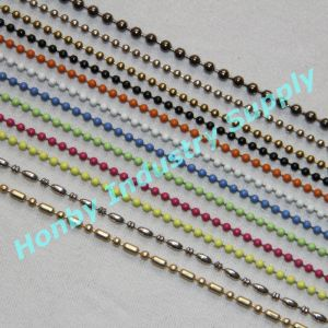 Assorted Colored Metal Hollow Ball Link Bead Chain