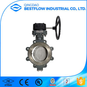 Worm Gear Cast Steel Wafer Butterfly Valve pictures & photos