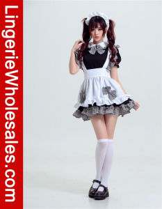 China Sexy Women S Anime Cosplay French Maid Fancy Dress Costume