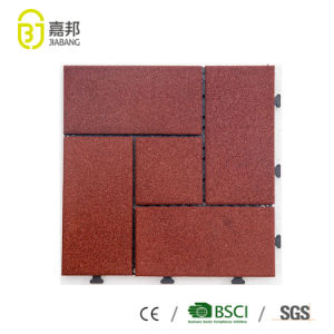 Cheap Outdoor Interlocking System Patio Paving Heat Resistant Recycled SBR  Types Of Rubber Floor Tiles Deck