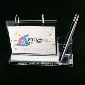 Custom Plastic Acrylic Diary with Pen Holder pictures & photos
