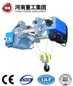 FEM Standard 0.25-16t Low Headroom Wire Rope Electric Hoist with Electric Trolley with CE Certificate
