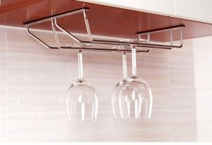 304 Stainless Steel Under Cabinet Stemware Rack