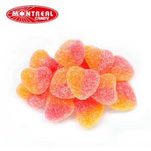 Sour Peach Heart Gummy Candy