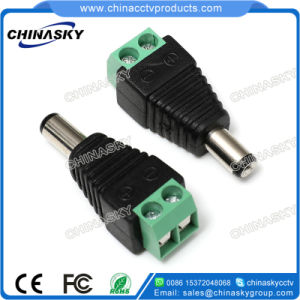 Male CCTV DC Power Adapter Plug with Screw Terminal (PC102) pictures & photos
