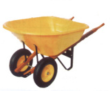 Plastic Tray with Double Wheel Wheel Barrow (WH8802) pictures & photos