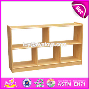High Quality Kids Preschool Furniture Natural Wood Storage Furniture W08c203 pictures & photos