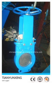 Hand Wheel Di Body Semi-Lugged Slurry Knife Gate Valve pictures & photos