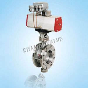 Pneumatic Hard Sealed Flange Butterfly Valve (Type: D643H)