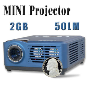 Compact and Portable Multimedia 2GB Projector for Business Function and Home Theater