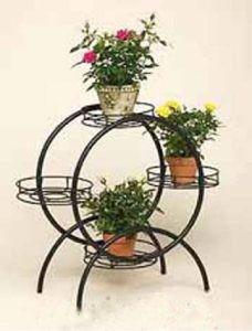 China Flower Pot Holder Wrought Iron (LF0053) - China Iron Flower Pot Holder, Iron Flower Shelf