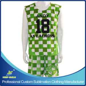Custom Sublimation Lacrosse Sports Garment with Reversibles and Shorts pictures & photos