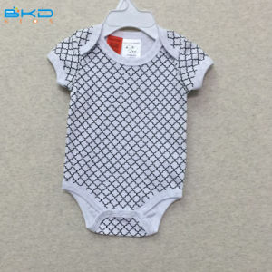 Short Sleeve Baby Clothing Envelope-Neck Children Wear Baby Bodysuit pictures & photos
