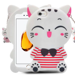 New Style Cartoon Cute Cat Silicone Phone Case for iPhone 7 7plus 6s 6splus