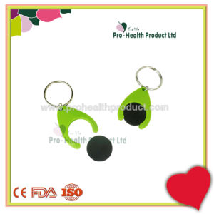 Supermarket Trolley Plastic Token Euro Coin Holder Keychain pictures & photos