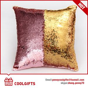 Fashion New Two Tone Glitter Mermaid Sequins Pillow Cover, Pillowcase pictures & photos