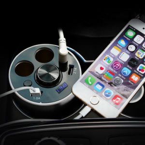 Multi-Functional Car Charging Cup Holder - 2 Port USB (3.1A) Car Charger - Multifunction USB Car Charger