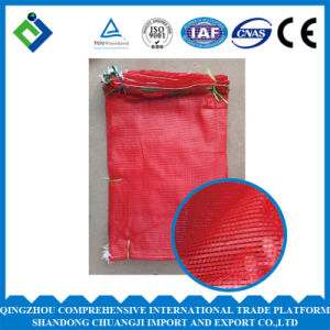 Red Color Poly Mesh Bag