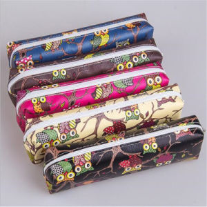 Lovely Student Bag Square Octagonal Owl Cartoon Stationery Bag (GB#LN) pictures & photos