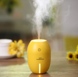 Mini 180ml Air Purifier USB LED Night Light Mist Maker Lemo Ultrasonic Humidifier pictures & photos