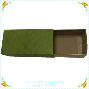 Paper Drawer Packaging Box with Coated Kraft Paper Board
