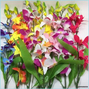 Silk Cheap Artificial Flowers Fake Orchid for Home Wedding Decoration