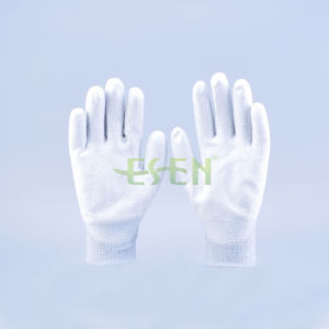Carbon Fiber Nylon PU Coated ESD Antistatic Gloves
