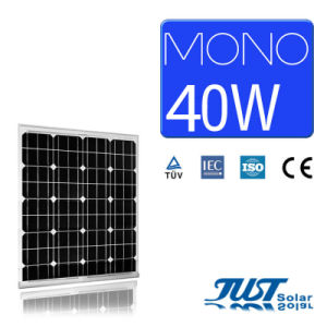 40W Mono Solar Panels with Certification of Ce CQC and TUV