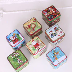 Christmas Embossed Cookie Tin Box pictures & photos