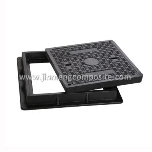 Square Composite Manhole Cover with 2 Screw pictures & photos
