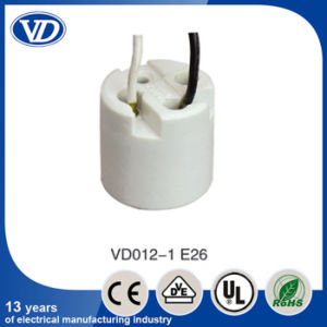 Ceramic E26 Socket with Wire